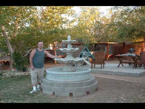 Water Fountain 3 tier project - install