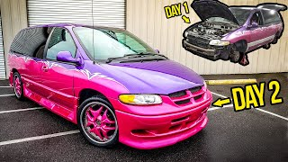 """Rebuilding An ABANDONED """"Pimp My Ride"""" Minivan In 2 Days"""