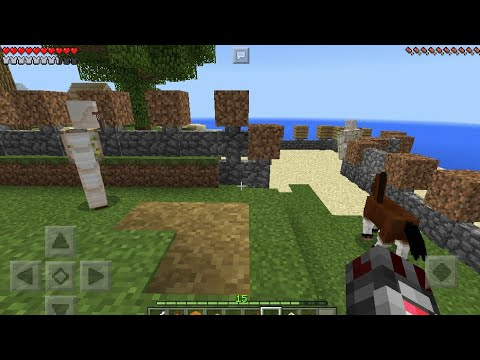 Minecraft  pe building guest house and show off camera work
