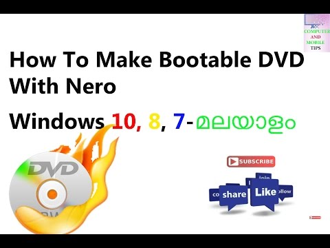 How To Make Bootable DVD With Nero Windows 10, 8, 7 - How to Burn an ISO to DVD -MALAYALAM