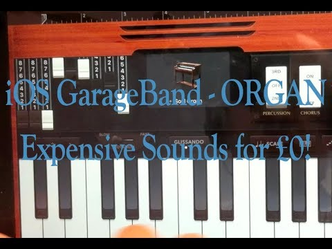 GarageBand for ios 10 / 11: The Hammond Organ - making recordings sound expensive since 1935...