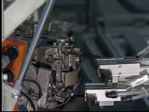 KUKA robot sews car seat covers