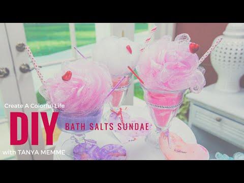 DIY Bath Salt Sundaes