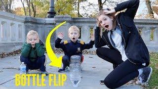 BOTTLE FLIP DARE CHALLENGE 2 (with a twist!) | Match Up