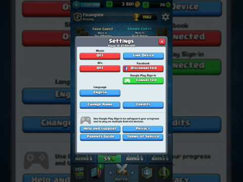 How to create 2 accounts in Clash Royale (android)