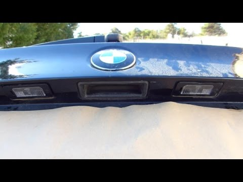 How to change a licence plate light on BMW E90