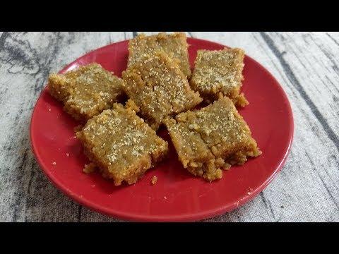 Sukhadi Recipe - Gud Papdi -Gur Papri - Gujarati Sweets Recipe in Just 10 mins