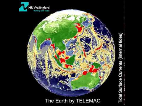 'The Earth' by TELEMAC - 3D simulation of internal tides