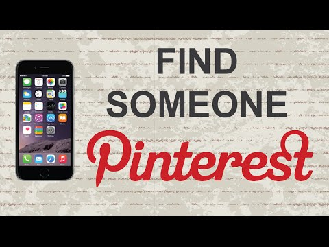 How to find someone on Pinterest | Mobile App (Android / Iphone)
