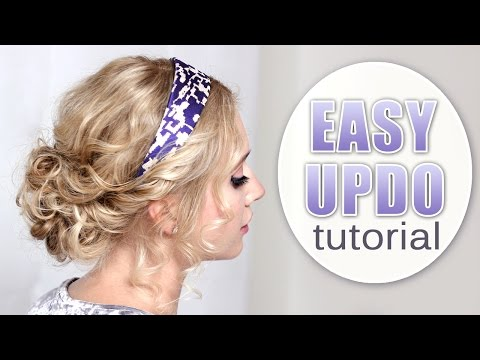 Quick and easy updo hairstyle for Christmas holidays, New Year party ❤ Curly hair tutorial
