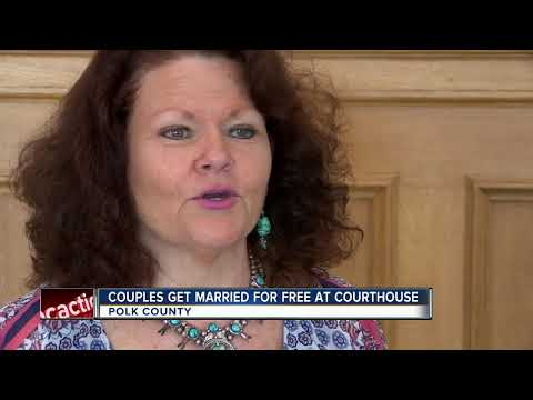 30 Polk County couples say 'I do' at group wedding on Valentine's Day