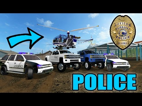FARMING SIMULATOR 2017 | POLICE STATION CONSTRUCTION | POLICE CHASE | MULTIPLAYER