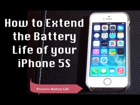 How to Extend Battery Life on iPhone 5S with iOS 7