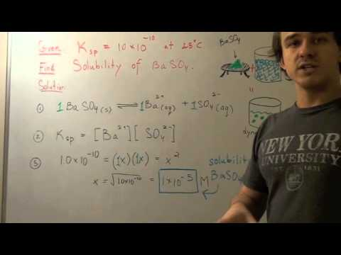 Solubility Product Constant with Example