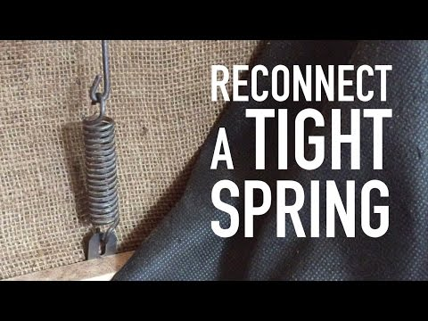 How to Stretch a Tight Spring (tension spring)