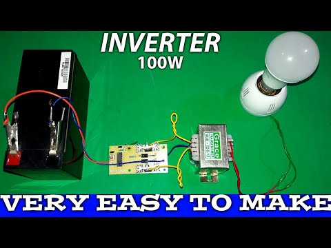 Make an inverter: at home mosfet technology (very low cost)✅
