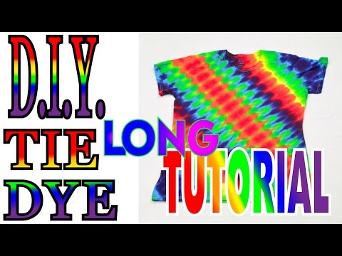 DIY Angled Symmetrical Rainbow Tie Dye Shirt [Full Tutorial] #40