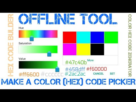 how to make Color HEX code generator Tool