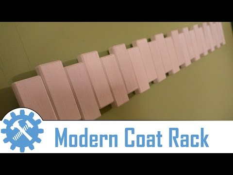 Making a Pivoting Wall Mounted Coat Rack