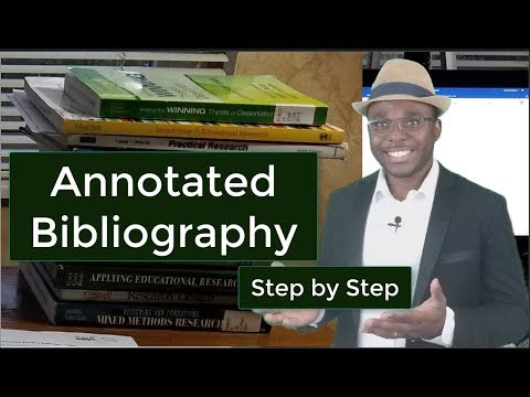 How to Write an Annotated Bibliography Step by Step