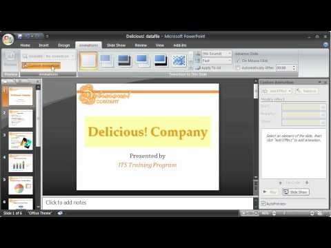 1.14 PowerPoint 2007: Animation with Objects, Text, and Slides