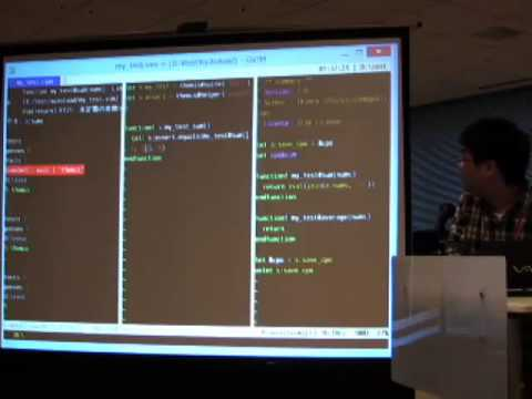 Test for Vim script #VimConf2014