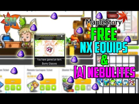 HOW TO GET FREE NX EQUIPS & NEBULITES IN MAPLESTORY!!