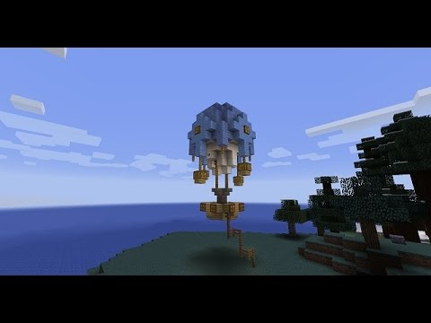 Minecraft Tutorial || How To Make A Hot Air Balloon (Easy!)