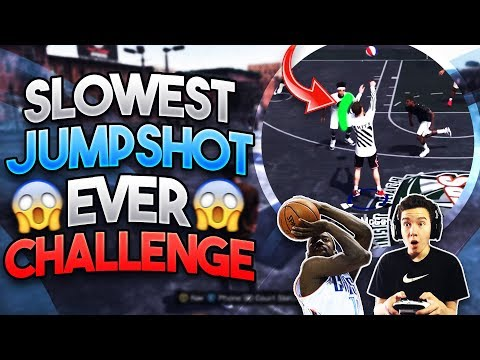 SLOWEST JUMPSHOT IN 2K HISTORY CHALLENGE!! Can We Win w/ the Ugliest Jumpshot!? - NBA 2K18