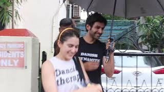Love couples Sara Ali Khan along with Kartik Aryan spotted at dance rehearsal hall juhu