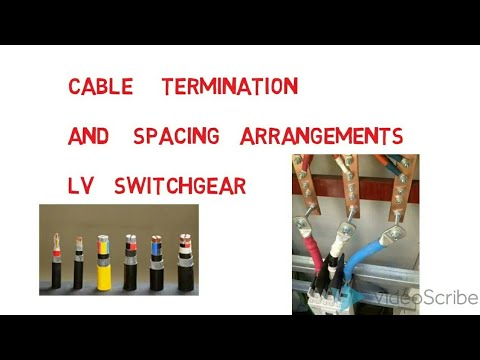 cable termination &spacing  low voltage new simple explaintion