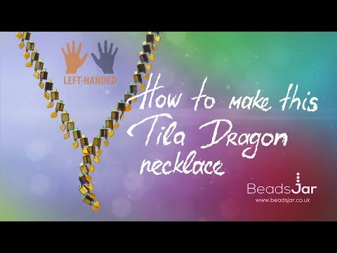 Left-handed ★ How to make this Tila Dragon Necklace | Seed Beads Design