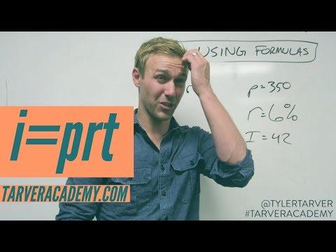 i=prt is Interest...ing // TARVER ACADEMY MATH