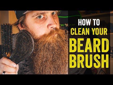 How to CLEAN YOUR BEARD BRUSH - BEARD TALK