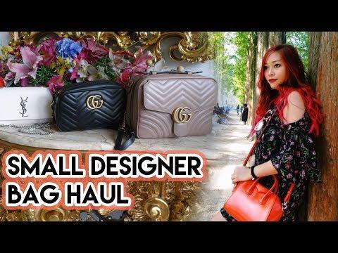 👜✨ SMALL DESIGNER HANDBAG HAUL | Gucci Marmont, YSL Kate, Givenchy Antigona, Chanel & Prada