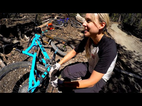 Showing off her old stomping grounds | Mountain Biking with Lauren Gregg at Mammoth Mountain
