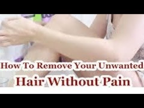 Get Rid of unwanted Hair Permanently and naturally At Home Without Pain | Demo+Live Results