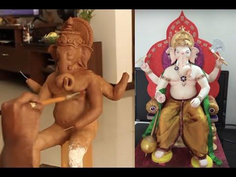 Making of Lalbaugcha Raja at home