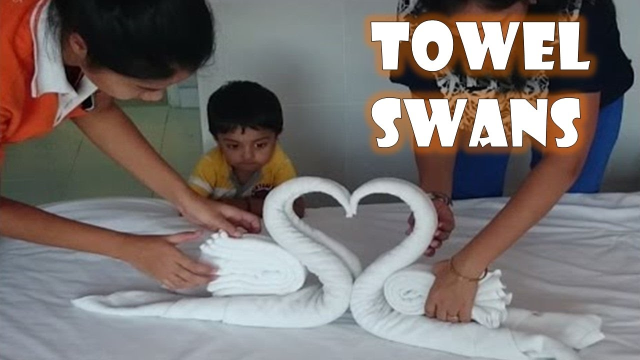 How to make Towel art | Towel Origami Swans | Towel Folding | Ft Sparsh Hacks First Video on YouTube