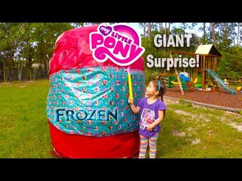 Biggest Surprise Egg Ever! Surprise Toys Eggs of Disney Frozen, Spiderman, Hello Kitty & Powerwheels
