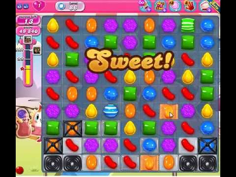 How to beat Candy Crush Saga Level 86 - 3 Stars - No Boosters - 109,800pts