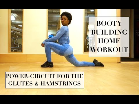 BOOTY BUILDING HOME WORKOUT| GLUTE & HAMSTRING CIRCUIT| DUMBBELLS ONLY!