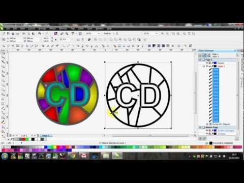 Stained Glass Effect Panel in CorelDRAW