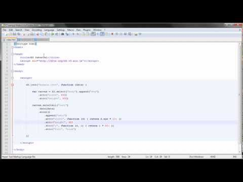 D3.js tutorial - 10 - Loading External Data