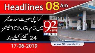 News Headlines | 8:00 | 16 June 2019 | 92NewsHD