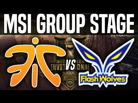 FNC vs FW - MSI 2018 Group Stage Day 4 - Fnatic vs Flash Wolves | League Of Legends MSI 2018
