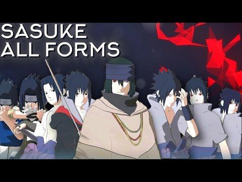 Sasuke Moveset All 8 Forms+Combo+Awakening [Showcase] Naruto Shippuden Ultimate Ninja Storm 4
