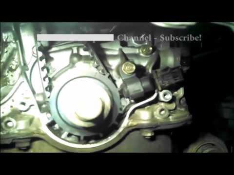 Timing belt replacement Honda Civic 2004 1.7L  PART 2  Water pump too. 2001-2005