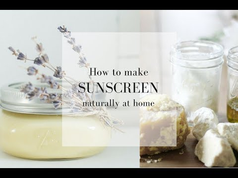 HOW TO MAKE SUNSCREEN   Essential Oils for Summer