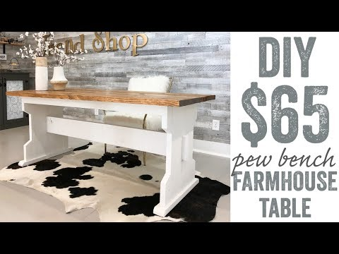Pew Bench Farmhouse Table for $65